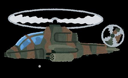 軍用ヘリコプターのイラスト(迷彩)