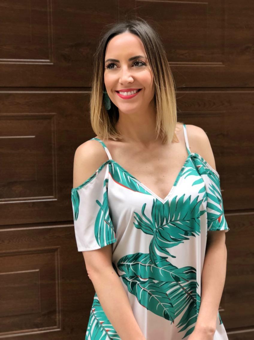 Fitness And Chicness-Leaf Print Dresses La Familia-2