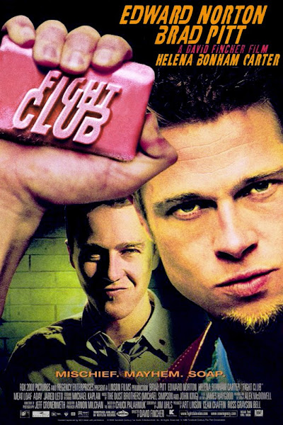 Poster Of Fight Club 1999 720p Hindi BRRip Dual Audio Full Movie Download
