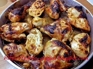 Γλυκόξινο κοτόπουλο ψητό στη σχάρα - από «Τα φαγητά της γιαγιάς»