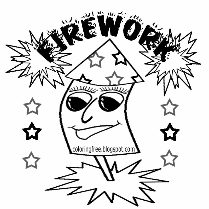 Free Coloring Pages Of Bonfire Night