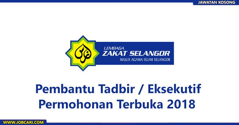 Jawatan Kosong di Lembaga Zakat Selangor LZS