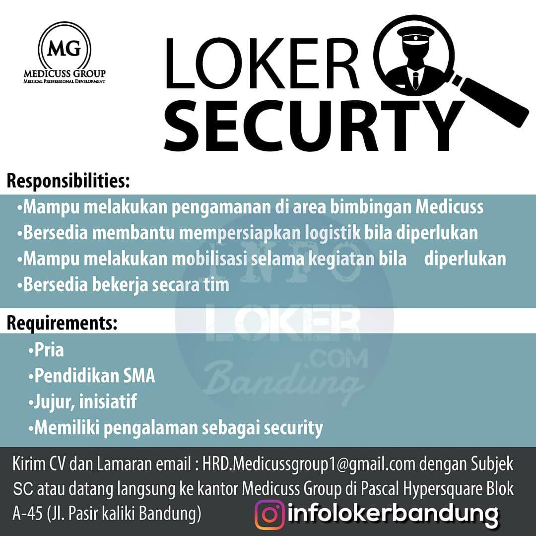 Lowongan Kerja Security Medicuss Group Bandung Maret 2018