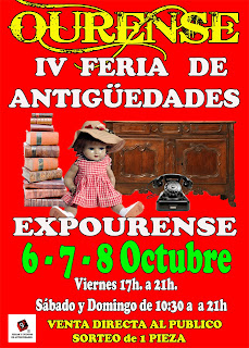 Cartel de la Feria de antiguedades de Ourense