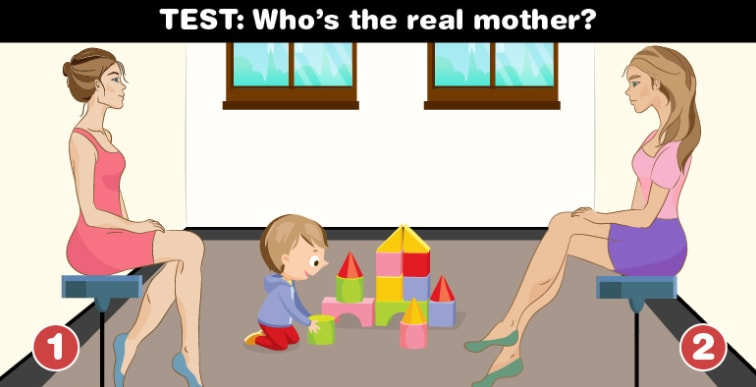 Who Is The Real Mother Of The Child Your Answer Will Say A Lot About Your Personality