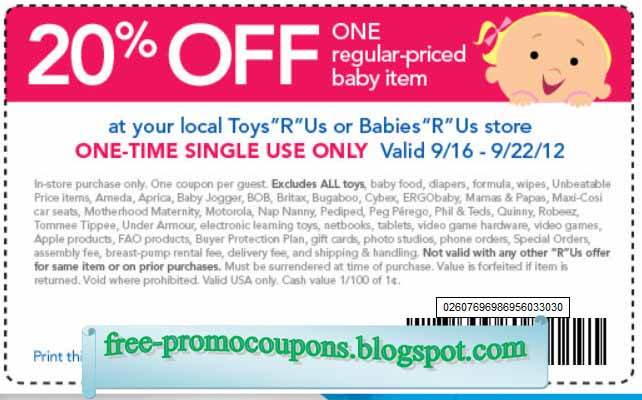picture about Printable Babies R Us Coupons known as Toddlers are us discount coupons