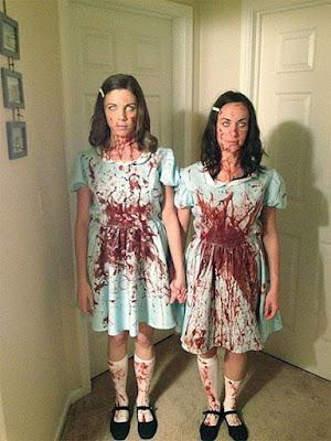Disfraz Halloween hermanas asesinas amigas