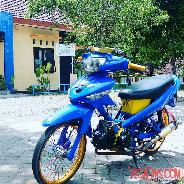 Vega ZR Modif Thailook Biru Orange Kuning