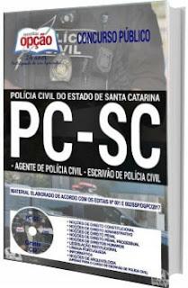 Apostilas PC-SC 2017 Agente e Escrivão de Polícia Civil