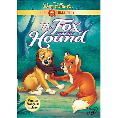 "Dvd cover ""The Fox and the Hound"" 1981 animatedfilmreviews.filminspector.com"