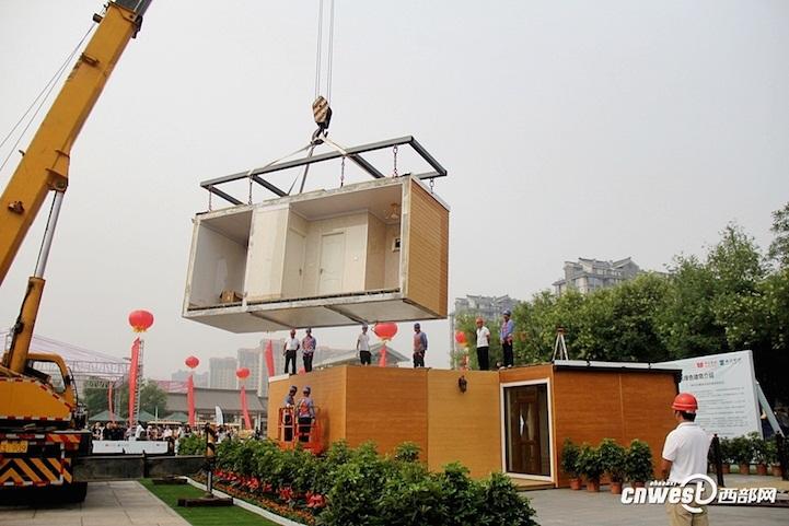 Tecnoneo innovadora empresa china monta una casa modular for Case prefabbricate modulari