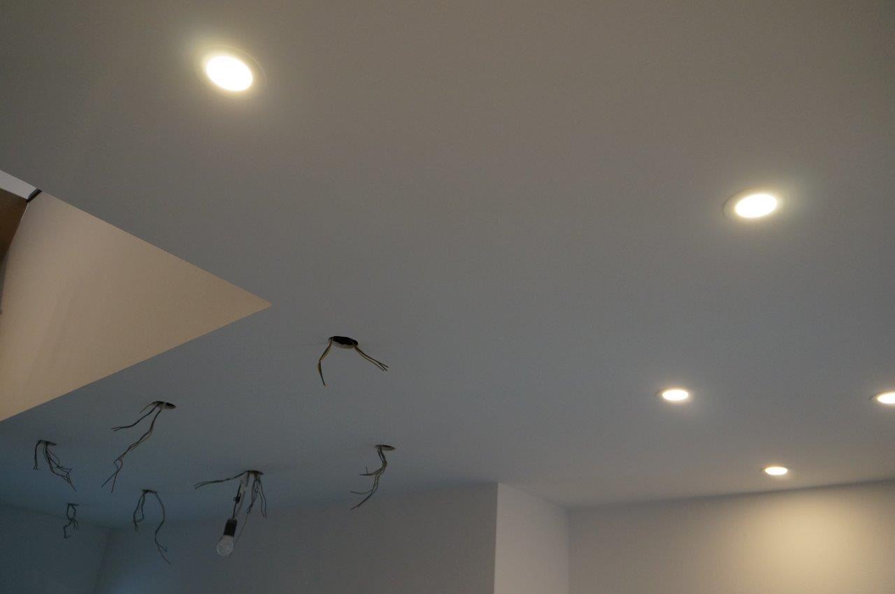 Bautagebuch von Sabrina & Frank: LED-Spots in der Flurdecke