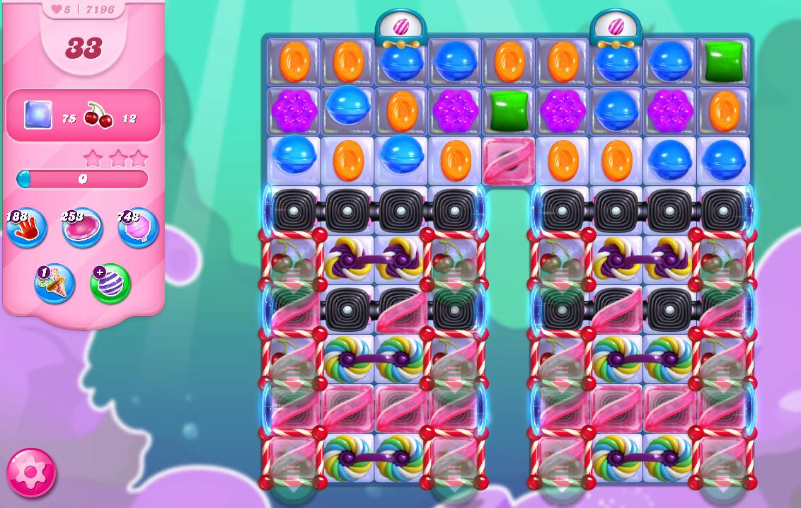 Candy Crush Saga level 7196