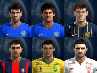 Faces: Lodeiro, Marcelo Meli, Franco Cervi, Nestor Ortigoza, Guido Rodriguez, Miralles, Pes 2013
