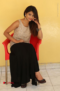 Tollywood Upcoming Actress Arthi Stills in Black Skirt at Plus 1 Movie Trailer Launch  0113.JPG