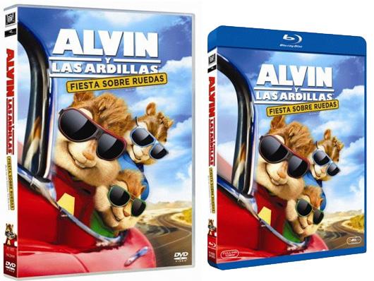 Ya a la venta 'Alvin y las ardillas: Fiesta sobre ruedas' en DVD y Blu-ray