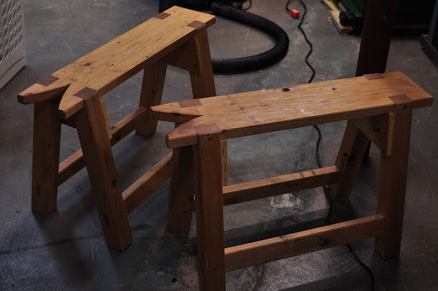 "Honey Woodworking ""schwarzian"" Benches"