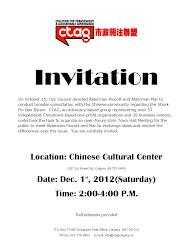 invitation meeting hall town