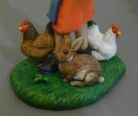 statuine personalizzate cake topper con animali galline coniglio orme magiche