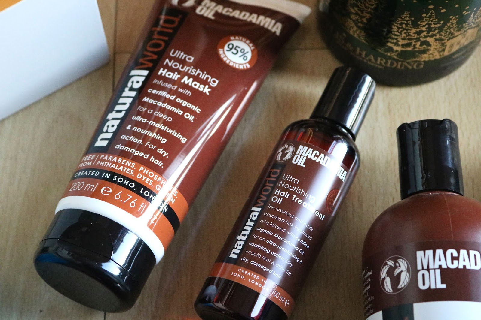 natural world macadamia oil hair mask and treatment oil