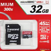 Transcend micro-SDHC UHS-I PREMIUM 300X 32GB Ref