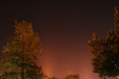 light pollution and orion