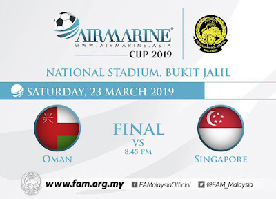 Live Streaming Oman vs Singapore Final Airmarine Cup 23.3.2019