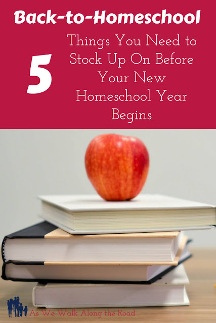 Back-to-homeschool supplies