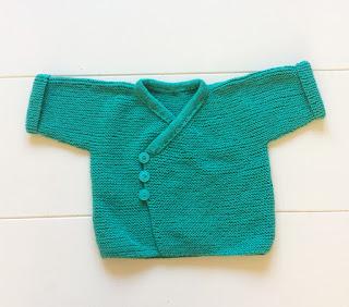 vestje baby gebreid groen