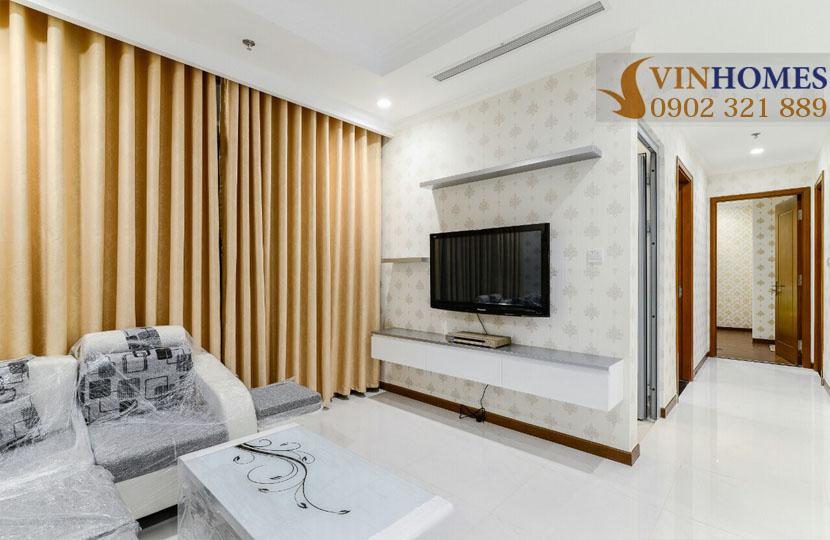 Landmark 5 Vinhomes Central Park cho thuê căn hộ 2 phòng ngủ - tivi phòng khách