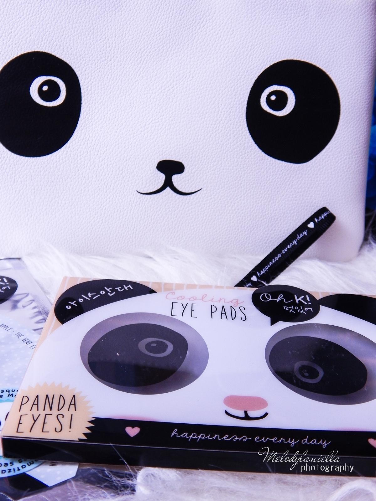 8 Oh! K Life koreańskie kosmetyki i gadżety słodkie dziewczęce dodatki maska do twarzy panda kosmetyczka w kształcie pandy lodowe płatki chłodzące okłady na oczy przeciw sińcom jak pozbyć się sińców pod oczami