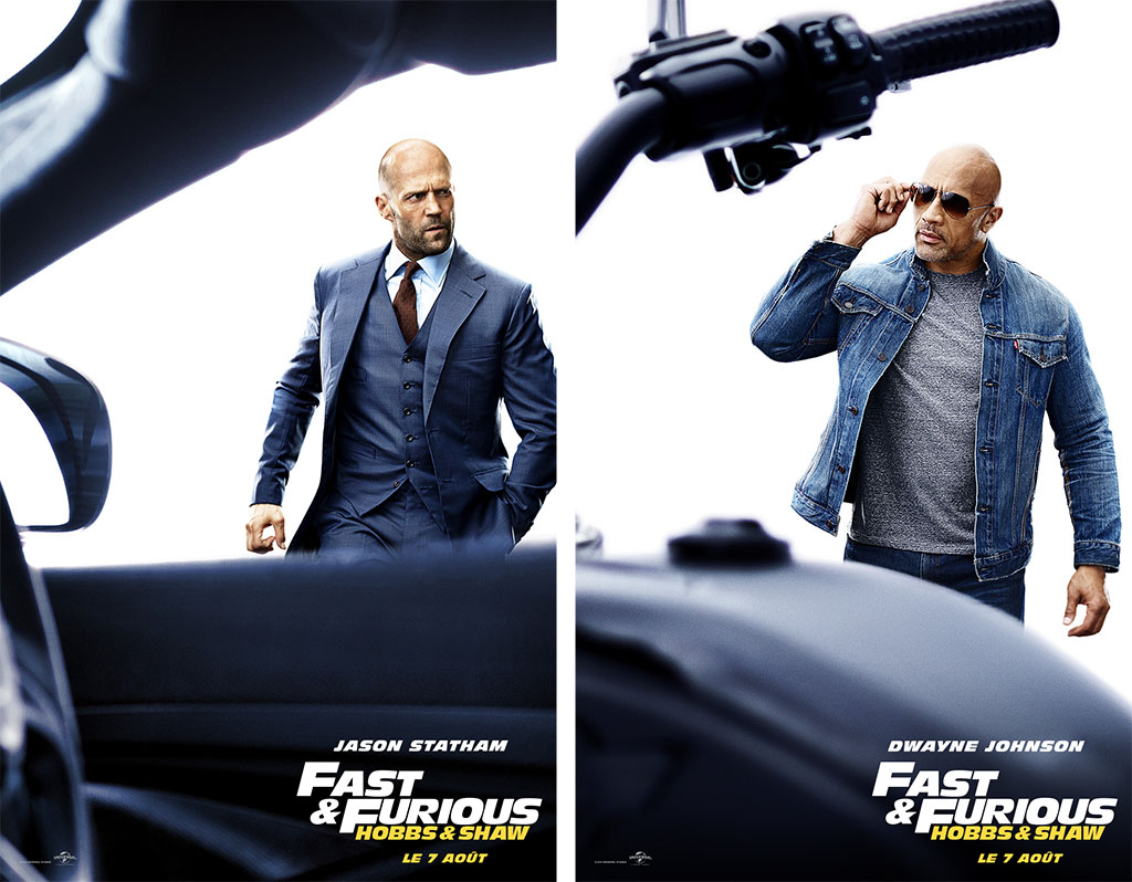 cineblogywood fast furious hobbs shaw les affiches personnages. Black Bedroom Furniture Sets. Home Design Ideas