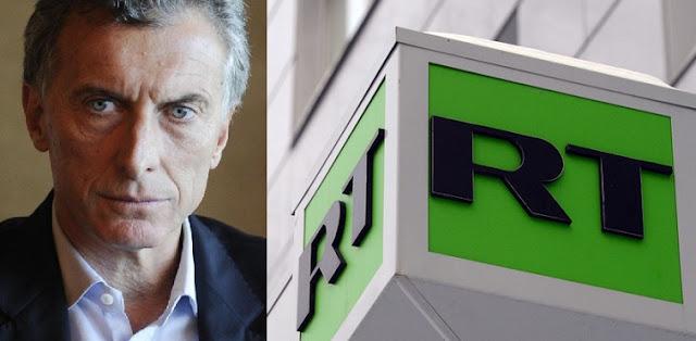 Mauricio Macri suspende la transmisión de RT en Argentina