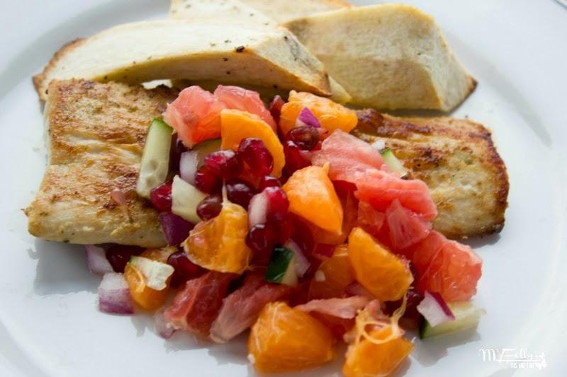 This and that: Coconut Herb Mahi Mahi with Citrus Salsa