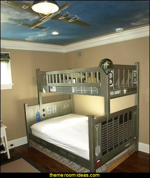 military themed bedroom decorating army style army aircraft
