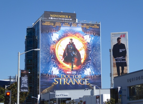 Giant Marvel Doctor Strange movie billboard