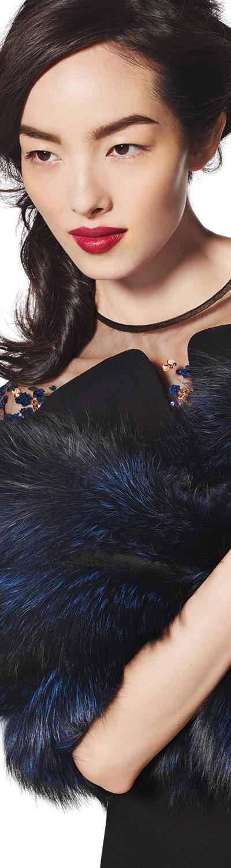 Gorski Fox Fur Stole w/Leather