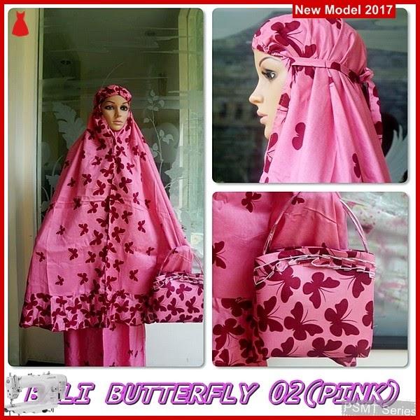 PSMT093A Mukenah Bali Butterfly Pink 02 Tanah Abang