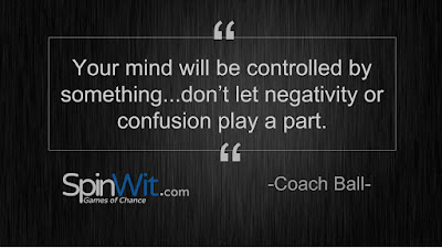 Your mind will be controlled by something...don't let negativity or confusion play a part.