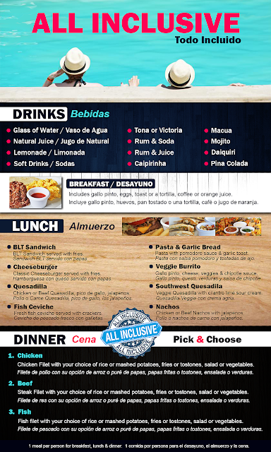 Surf Ranch Menu