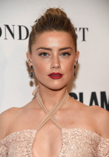 Amber Heard Wearing Kimberly McDonald Earrings