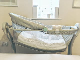 Summer Infant By Your Bed Sleeper on an incline for reflux