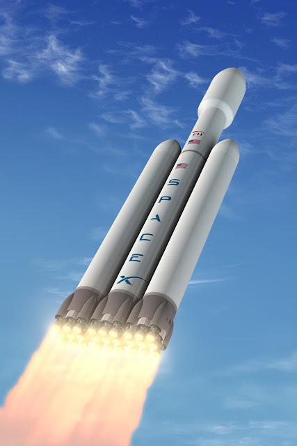 Đây sẽ là tên lửa mạnh mẽ nhất của Hoa Kỳ từ sau tên lửa Saturn V của NASA. Hình ảnh: SpaceX.
