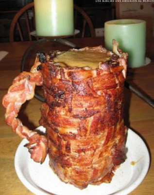Lustige Bier Bilder Bierglas aus Bacon Speck