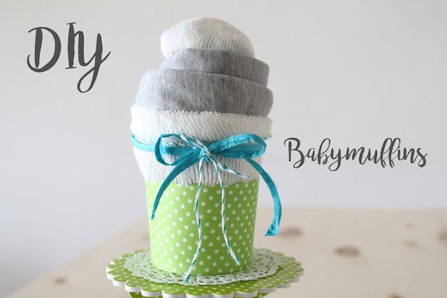 DIY Babymuffin Geschenk zur Geburt statt Windeltorte
