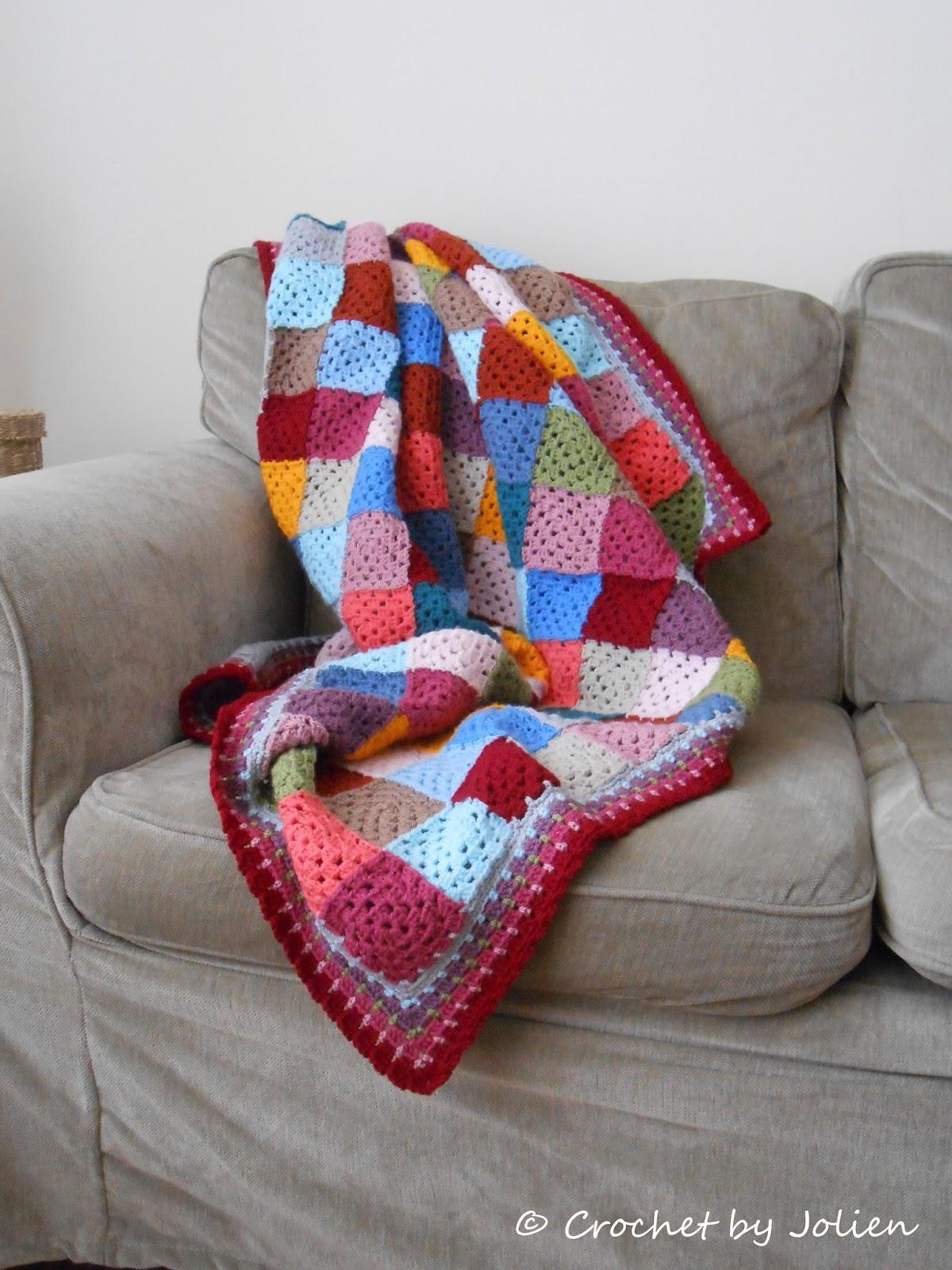 Crochet By Jolien Granny Square Deken Is Klaar