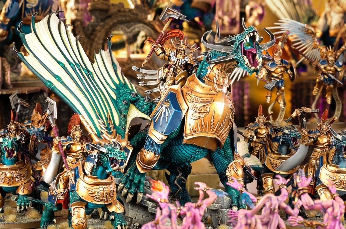 Dragonaco para Age Of Sigmar Lord Celestant on Dracoth