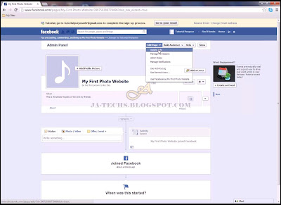 Creating Facebook Fan Page - Step 6