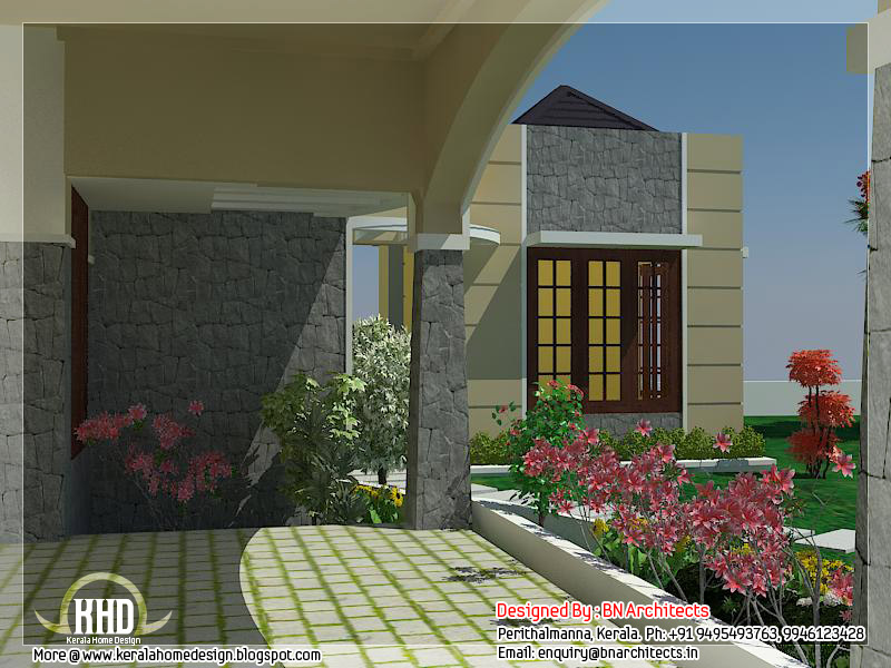 5 bedroom luxury home in 2900 sq feet kerala home for Car porch design in kerala