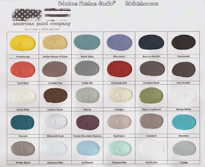 American Paint Co. color chart